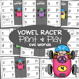 cvc Words Game - Vowel Racer - Print & Laminate Game