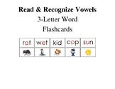 Vowel Reading Illustrated Flashcards (a, e, i, o, u)