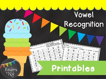Vowel Recognition Printables (Ice Cream Theme)