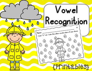 Vowel Recognition Printables {Rainy Days}