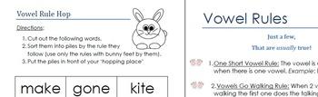 Vowel Rule Hop and Rule List