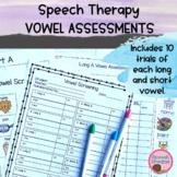 Vowel Diphthong Assessment {Apraxia Phonics} Screening Informal