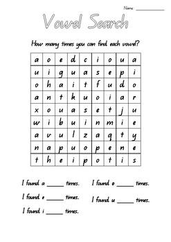 Vowel Search - Queensland Beginners Font