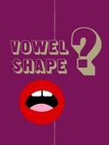 Vowel Shape Choir Poster