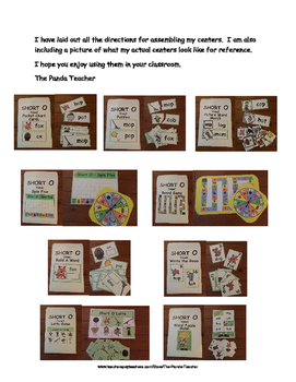 Short Oo Literacy Centers