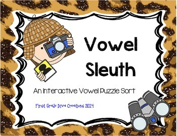 Vowel Sleuth {Printable Literacy Centers for Vowel Sounds}