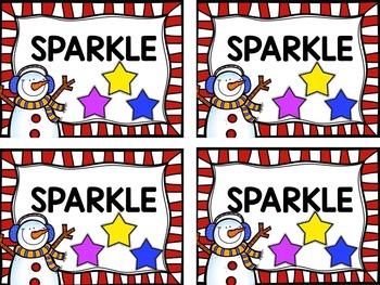 Snowman Vowel SPARKLE!