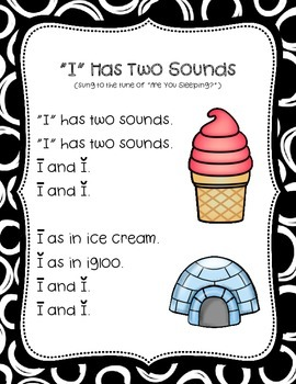 Vowel Song Posters