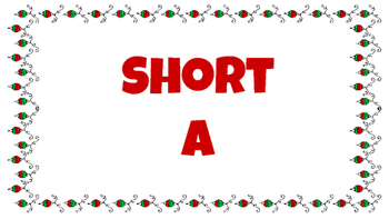 Vowel Sort: Holiday Edition