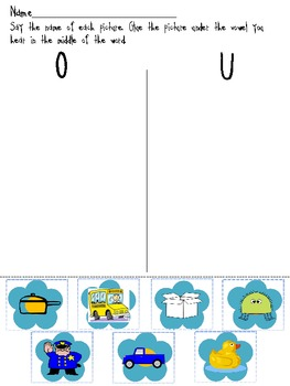Vowel Sort - O and U (medial sounds)