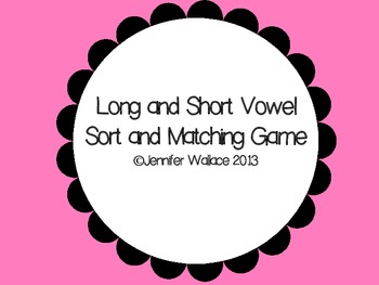 Vowel Sort and Matching Game