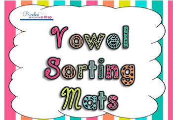Vowel Sorting Animal Mats