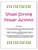 Vowel Sorting Flowers- A, E, I, O, and U
