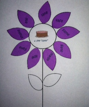 Vowel Sorting Flowers- Short and Long E