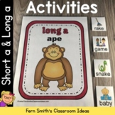 Short a and Long a Vowel Activities