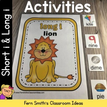 Vowel Sorting - Short i and Long i Center Games, Printables and More