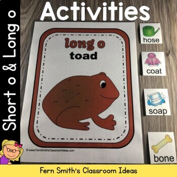 Vowel Sorting - Short o and Long o Center Games, Printables and More