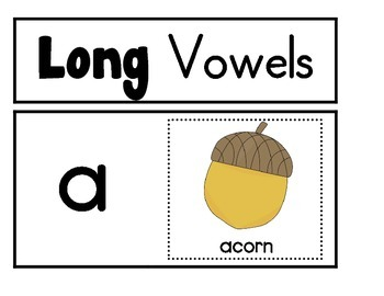 Vowel Sound Anchor Charts