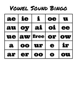 Vowel Sound Bingo