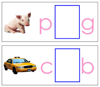 Vowel Sound Cards for Printable Moveable Alphabet PRINT - Pink/Blue