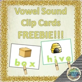 Vowel Sound Clip Card FREEBIE!!!