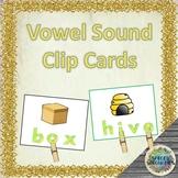 Vowel Sound Clip Cards - phonological awareness & phonics