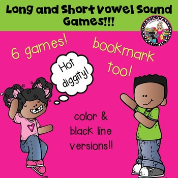 Vowel Sound Games! Easy to use & Make!