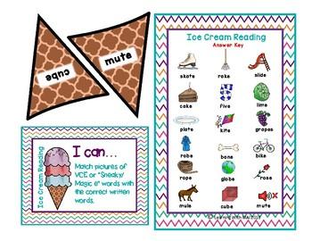Vowel Sound Ice Cream Reading