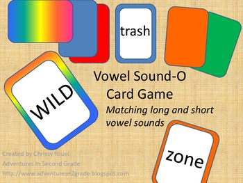 Vowel Sound-O Card Game