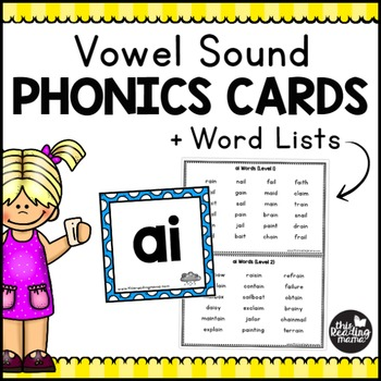 Vowel Sound Phonics Cards + Word Lists