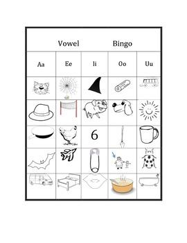 Vowel Sound Review, Short Vowel Sound Review, Consonant Sounds - BINGO!