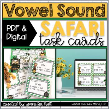 Vowel Sound Safari {Task Cards}