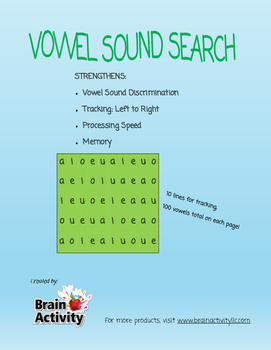 Short Vowel Sound Search
