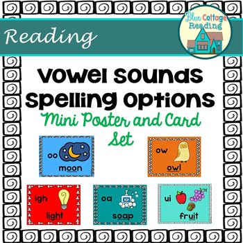 Vowel Sound Spelling Option Mini Poster and Card Set