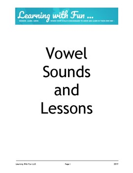 Vowel Sounds And Fun Activities!