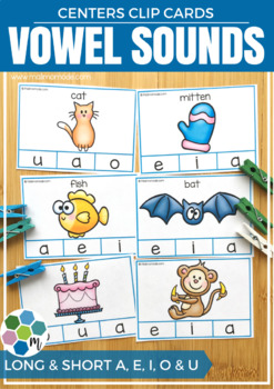 Vowel Sounds Clip Cards