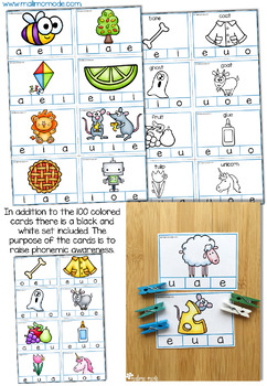 Vowel Sounds Clip Cards