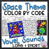 Long Vowel and Short Vowel Worksheets   Color by Code Phonics