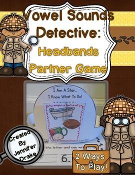 Vowel Sounds Detective: Headbands Partner Game for Short V