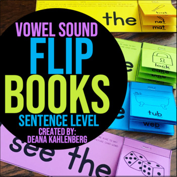 Vowel Sounds {Flip Books}