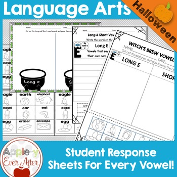 Halloween Sort - Vowel Sounds - Complete Vowel Bundle!
