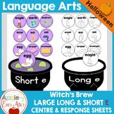 Long and Short Vowel Sounds Center  Halloween Sort - E