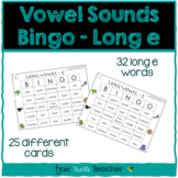 Vowel Sounds (Long E) Bingo - 25 Different Game Cards