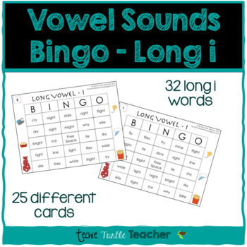Vowel Sounds (Long I) Bingo - 25 Different Game Cards