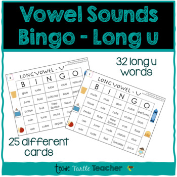 Vowel Sounds (Long U) Bingo - 25 Different Game Cards