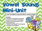 Vowel Sounds Mini-Unit-Activities and Printables for Long & Short vowels