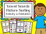 Vowel Sounds Picture Sorting Activity & Printables {K, 1, 2.RFS.3}