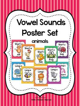 Vowel Sounds Poster Set (Long and Short Vowels)~ Animals