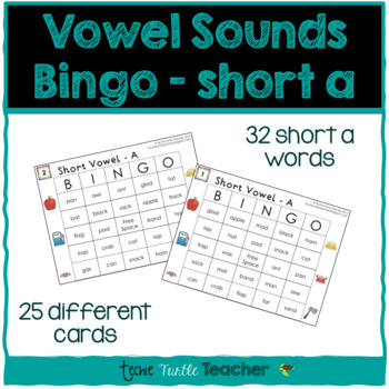 Vowel Sounds (Short A) Bingo - 25 Different Game Cards