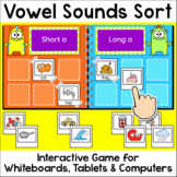 Vowel Sounds Sorting Game - Long Vowels & Short Vowels Digital Literacy Center